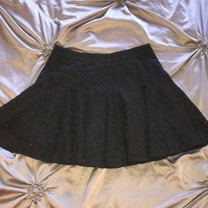 Free People black knee length skirt